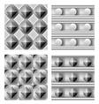 3d geometric pattern set vector image