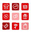 retro shopping icons vector image vector image