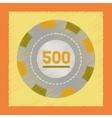 flat shading style icon poker chips vector image