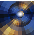 Abstract mosaic circle background vector image