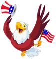 american patriotic eagle vector image
