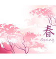 Beautiful sacura spring vector image
