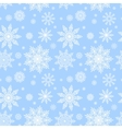 blue seamless pattern with snowflakes to christmas vector image