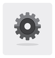 flat icon gear wheel vector image