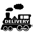 isolated black delivery train vector image