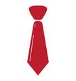 isolated necktie icon vector image