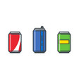 soda can set vector image