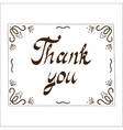Thank you card template vector image