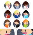 Little Business Men icons set vector image vector image