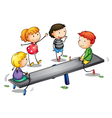 Seesaw kids vector image