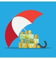 Umbrella to protect money vector image