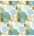 modern light gold seamless pattern with circles vector image