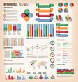 vintage infographic elements vector image