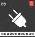 plug icon vector image
