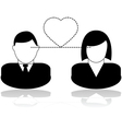 Love at first sight vector image vector image