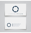 Business card template Camera shutter conceptl vector image