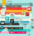 Paper Retro Flat Design Infographic Layo vector image vector image