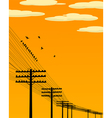 birds and telegraph poles vector image