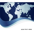 earth map background vector image vector image