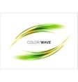 Blurred wave design elements vector image vector image