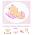 Sleeping sweet girl arrival vector image vector image