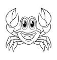 crab coloring book vector image