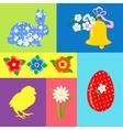 Easter Retro set element vector image