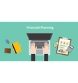 financial planning vector image