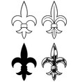 graphic detailed black and white royal lily set vector image