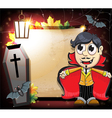 Halloween Vampire with coffin and bats vector image