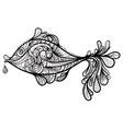 hand drawn fish vector image