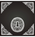 hand drawn keyhole on chalkboard vector image