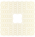 Pattern design Decorative template Golden vector image