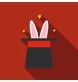 Rabbit in magician hat icon vector image