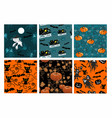 texture of halloween vector image