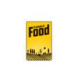vertical farm fireld logo badge label design vector image