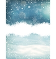 Winter landscape with falling snow EPS 10 vector image
