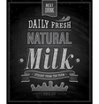 Natural Milk chalk vector image vector image