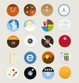 Web icons 17 vector image vector image
