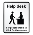 Help Desk Information Sign vector image vector image