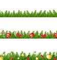 Christmas Border With Fir Tree vector image vector image