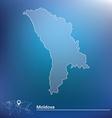 Map of Moldova vector image