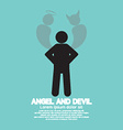 Angel And Devil Dark Side And Bright Side Of Human vector image