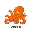 Octopus sea animal fish cartoon vector image