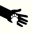 adoption of shelter dogs give love and caring vector image