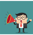 Business Cartoon With Megaphone vector image