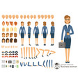 character constructor of business woman cartoon vector image