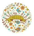 Concept hello card vector image