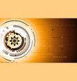 gold tech background vector image