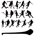 Irish hurlers vector image